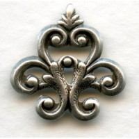 ^Corner or Finial Detail Oxidized Silver Plated 18mm