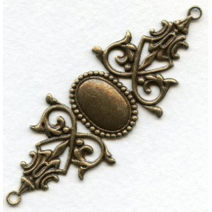 Gothic Bracelet Connector Base Oxidized Brass (1)