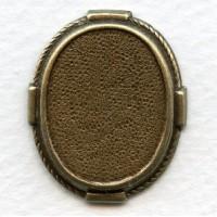 Decorative Setting Base Oxidized Brass 22x17mm