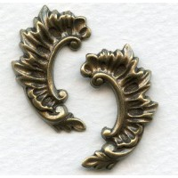 Rococo Right and Left Flourishes Oxidized Brass