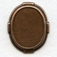 Decorative Setting Base Oxidized Copper 22x17mm