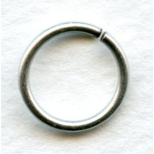 Jump Rings Round 12mm Oxidized Silver (24)