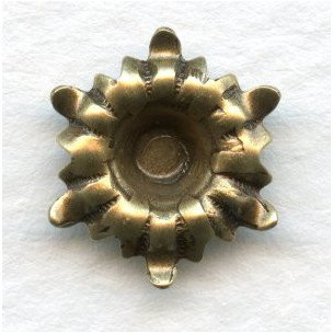 Flower with a 4mm Well Oxidized Brass (6)