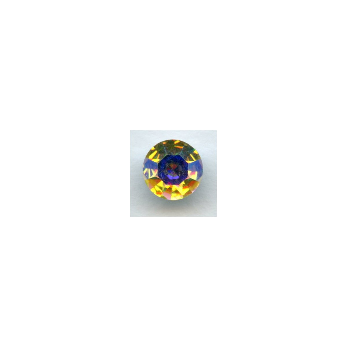 Round Crystal AB Foiled Rhinestones Pointed Back SS39