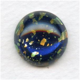 ^Dark Blue Glass Opal Cabochon 18mm (1)