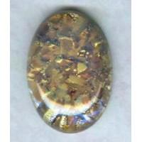 Topaz Hand Made Glass Opal Cabochon German 25x18mm