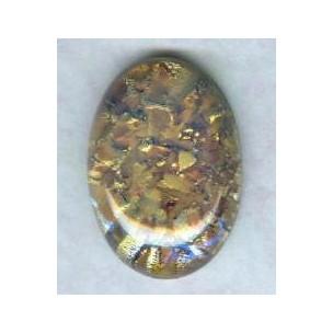 ^Topaz Handmade Glass Opal Cabochon 25x18mm