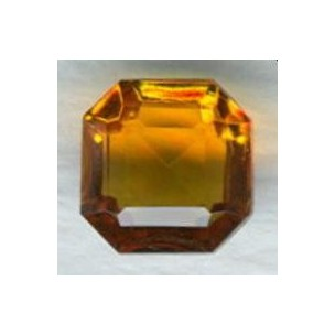 Topaz Glass Square Octagon Jewelry Stones 10x10mm