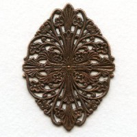 Filigree Fantastic Oxidized Copper Plated 57mm