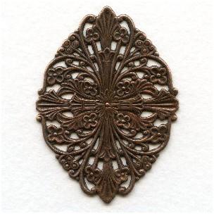 Filigree Fantastic Oxidized Copper 57mm