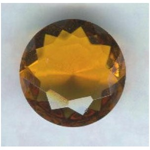 Topaz Glass Round 18mm Unfoiled Jewelry Stone