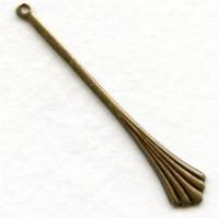 Unique Bails or Pendants 42mm Oxidized Brass (6)