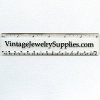 English/Metric 6 Inch Clear Palstic Ruler