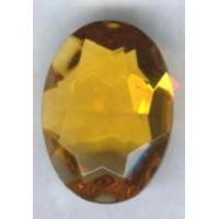 Topaz Glass Oval Unfoiled Jewelry Stones 12x10mm