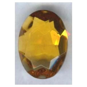 ^Topaz Glass Oval Unfoiled Jewelry Stones 12x10mm