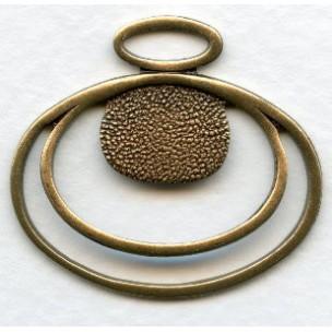 Pendant Setting Bases Oxidized Brass 31mm (3)