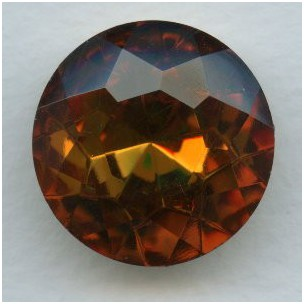 Topaz Glass Unfoiled Round Jewelry Stone 25mm