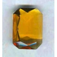^Topaz Glass Octagon Unfoiled Jewelry Stones 10x12mm