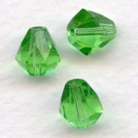 Peridot Bell Shape Faceted Glass Beads 9x8mm