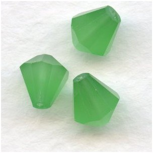 Opal Green Bell Shape Faceted Glass Beads 8x7mm