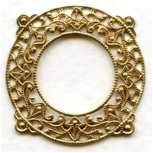 Filigree Frame Raw Brass 28mm