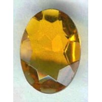 ^Topaz Glass Oval Unfoiled Jewelry Stones 14x10mm