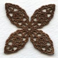 Filigree Stamping Splendid Details Oxidized Copper