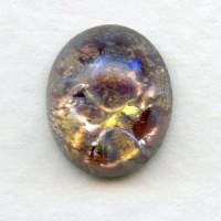 Amethyst Glass Opal Cabochons Handmade 12x10mm (2)