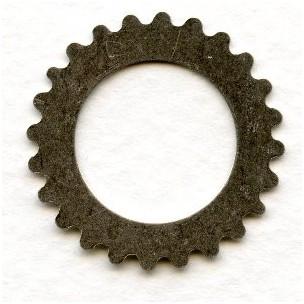 Steampunk Cogs Oxidized Silver 25mm