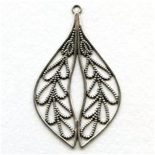 Grand Filigree Pendant Oxidized Silver 58mm