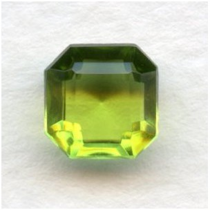 ^Olivine Bohemian Glass Square Octagon Stones 8x8mm