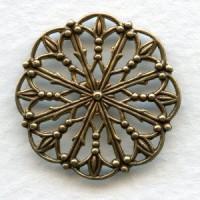 Ornate Round Filigree 23mm Oxidized Brass (6)