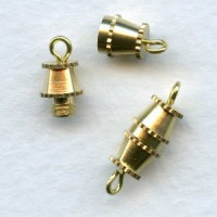 Vintage Style Barrel Clasps Raw Brass