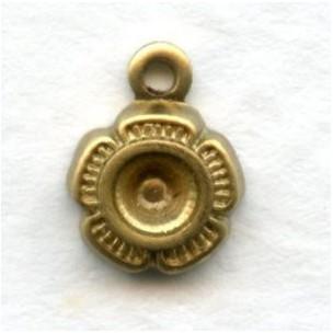 Settings to Hold Rhinestones Raw Brass 1-Loop