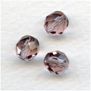 Light Amethyst Fire Polished Round Faceted Beads 8mm