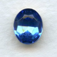 Light Sapphire Glass Oval Unfoiled Stones 10x8mm