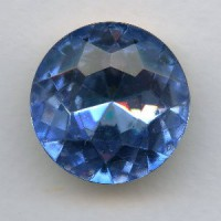 Light Sapphire Glass Round 25mm Unfoiled Jewelry Stone (1)