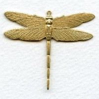 Dramatic Dragonfly with Loop 43mm Raw Brass (1)