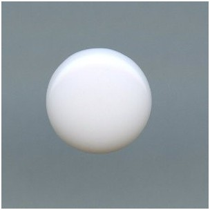 Chalk White Glass Cabochons Round Buff-Tops 9mm