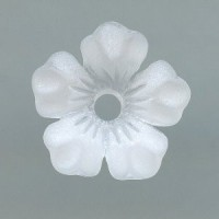Lucite Flower Beads Matte Crystal 14mm