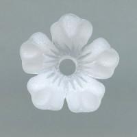 Vintage Lucite Flower Beads Matte Crystal 14mm