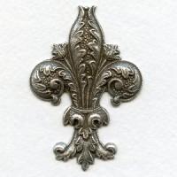 Fabulous 62mm Fleur-de-Lys Oxidized Silver (1)