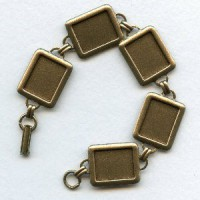 ^Bracelet Finding 16x12mm Settings Oxidized Brass