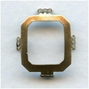Cushion Octagon Settings 14x12mm Oxidized Brass