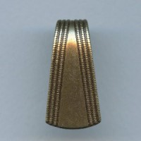 ^Rolled Bead Detail Stamping Oxidized Brass 33mm (3)