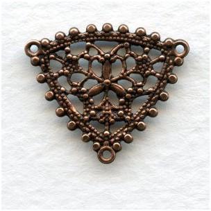 Filigree Pendant Connectors Oxidized Copper 20mm