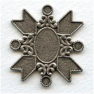 ^Medallion Crest 40mm Oxidized Silver (1)