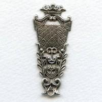 Royal Pendant Oxidized Silver 59x25mm