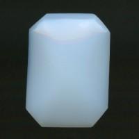 ^White Opal Flat Back Cushion Octagon 25x18mm