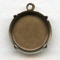 Shallow 18mm Settings Oxidized Brass (12)